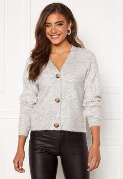 ONLY Carol L/S Cardigan Knit Light Grey Melange Bubbleroom.eu