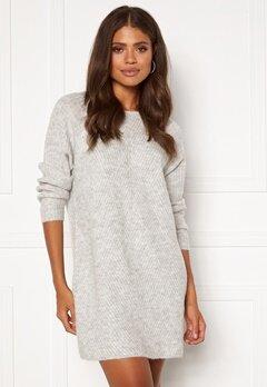 ONLY Carol L/S Dress Knit Light Grey Melange Bubbleroom.eu