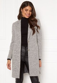ONLY Carrie Mel Coat Light Grey Melange Bubbleroom.eu