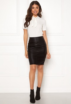 ONLY Celina Faux Leather Skirt Black Bubbleroom.eu