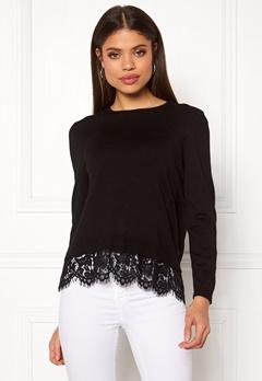 ONLY Cilla L/S Lace Pullover Black Bubbleroom.eu
