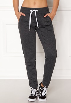 ONLY Coolie Sweat Pants Dark Grey Melange Bubbleroom.eu