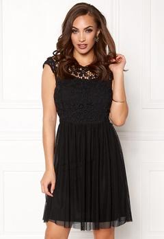 ONLY Crochetta Mesh Dress Black Bubbleroom.eu