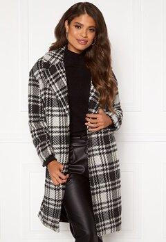 ONLY Dajana Check Wool Coat OTW Black Bubbleroom.eu