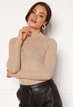 ONLY Diana Lurex L/S Top Frosted Almond Bubbleroom.eu