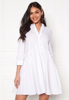 ONLY Ditte Fold Up 3/4 Shirt Dress White Bubbleroom.eu