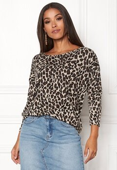 ONLY Elcos 4/5 Leo Top Black/Leo Bubbleroom.eu