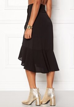 ONLY Ella Flounce Skirt Black Bubbleroom.eu