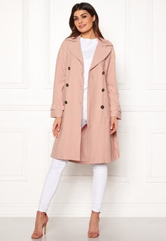 ONLY Emilia Long Trenchcoat Rose Smoke Bubbleroom.eu