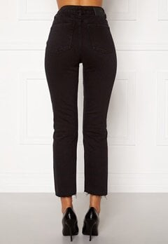 ONLY Emily HW Raw Ank Jeans Black Denim Bubbleroom.eu