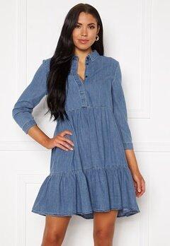 ONLY Enya Life 3/4 Sleeve Dress Medium Blue Denim Bubbleroom.eu