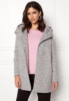 ONLY Fairy Mel Hooded Long Coat Light Grey Melange Bubbleroom.eu