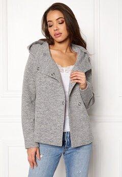 ONLY Fairy Mel Hooded Short Jacket Light Grey Melange Bubbleroom.eu