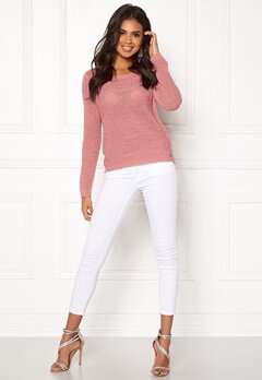ONLY Geena L/S Pullover Blush Bubbleroom.eu
