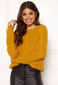 ONLY Havana L/S Pullover Knit Golden Yellow Bubbleroom.eu