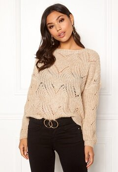 ONLY Havana L/S Pullover Knit Pumice Stone Bubbleroom.eu