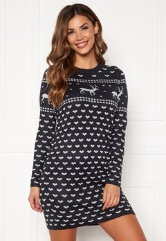 ONLY Heartmas L/S Dress Night Sky Bubbleroom.eu