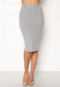 ONLY Ida Rib Skirt Light Grey Melange Bubbleroom.eu