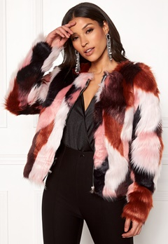 ONLY Jasmine Faux Fur Jacket Picante Bubbleroom.eu
