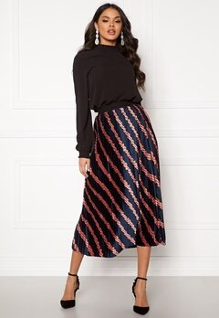 ONLY Jeanette Plisse Skirt Night Sky Bubbleroom.eu