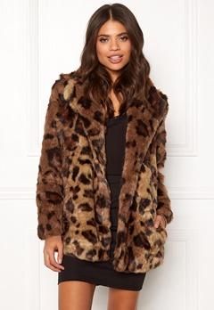 ONLY Juliane Faux Fur Leo Coat Tigers Eye Bubbleroom.eu
