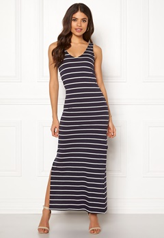 ONLY July S/L Long Dress Night Sky/Stripes Bubbleroom.eu