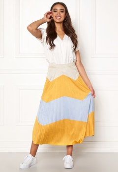 ONLY June Faux Suede Maxi Skirt Golden Yellow Bubbleroom.eu