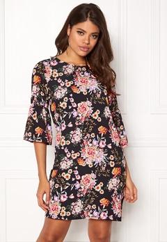 ONLY Kany Bell Dress LS Black/Floral Print Bubbleroom.eu