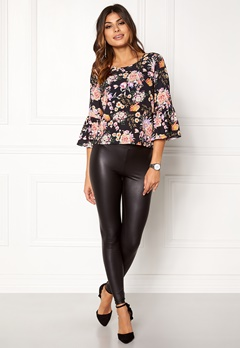 ONLY Kany Bell Top L/S Black Floral Print Bubbleroom.eu