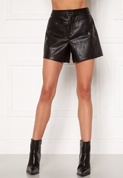 ONLY Kara Faux Leather Shorts Black Bubbleroom.eu