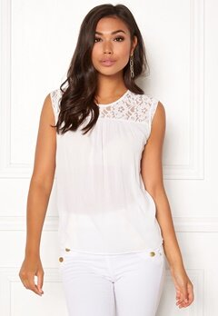 ONLY Karmen S/L Top Cloud Dancer Bubbleroom.eu