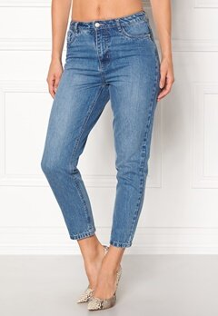ONLY Kelly Mom Dnm Jeans Medium Blue Denim Bubbleroom.eu