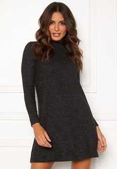 ONLY Kleo L/S Dress Knit Dark Grey Melange Bubbleroom.eu
