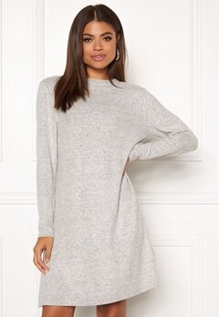 ONLY Kleo L/S Dress Knit Light Grey Melange Bubbleroom.eu