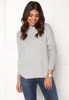 ONLY Kleo L/S Plain Pullover Light Grey Melange Bubbleroom.eu