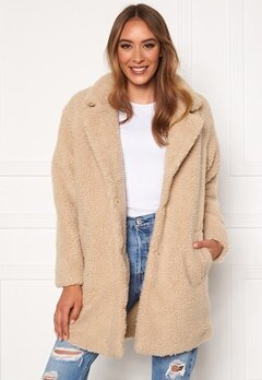 ONLY Laurelia Sherpa Coat Cuban Sand Bubbleroom.eu