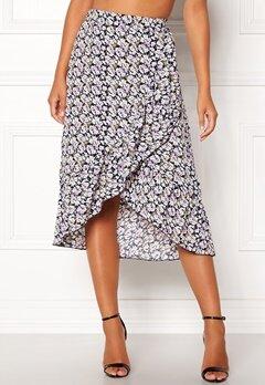 ONLY Lilac Long Frill Skirt Night Sky Bubbleroom.eu