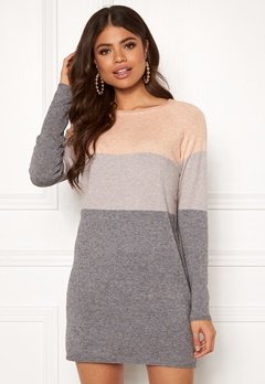 ONLY Lillo L/S Dress Knit Mahogany Rose Bubbleroom.eu