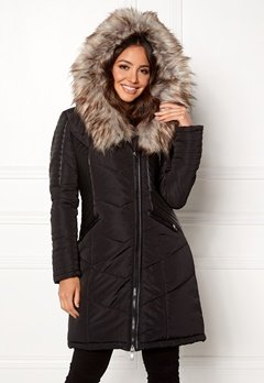 ONLY Linette Fur Hood Coat Black Bubbleroom.eu