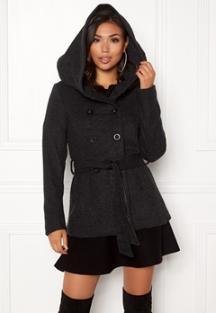 ONLY Lisa Hooded Wool Coat Black Bubbleroom.eu