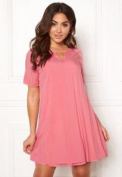 ONLY Lisa S/S Peep Dress Sunkist Coral Bubbleroom.eu