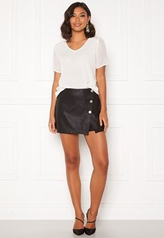 ONLY Liva Faux Leather Shorts Black Bubbleroom.eu