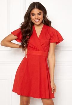ONLY Liva S/S Dress High Risk Red Bubbleroom.eu