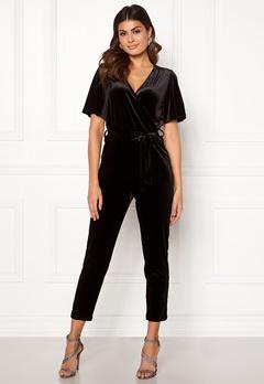 ONLY Luxe Velvet SS Jumpsuit Black Bubbleroom.eu