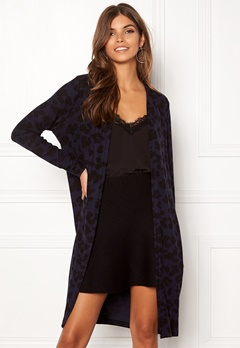 ONLY Mala L/S Leo Cardigan Night Sky/Black Leo Bubbleroom.eu