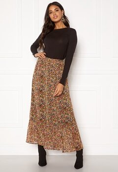 ONLY Mandy Maxi Skirt Black Multiflower Bubbleroom.eu
