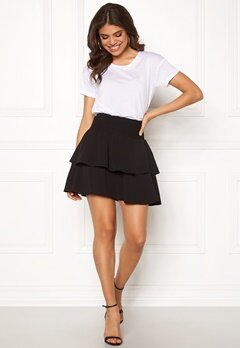 ONLY Mariana Myrina Layered Skirt Black Bubbleroom.eu