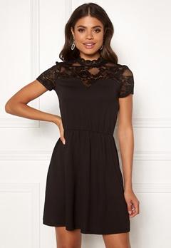 ONLY Monna s/s Mix Dress Black Bubbleroom.eu
