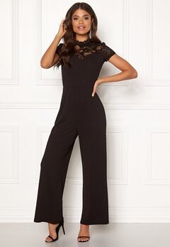 ONLY Monna s/s Mix Jumpsuit Black Bubbleroom.eu