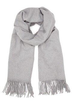 ONLY Nala Weaved Wool Scarf Light Grey Melange Bubbleroom.eu